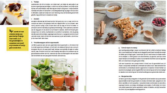 voorbeeldpagina het recepten afslank plan